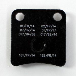 K05000ZD0232A - Bremsbelag vorne KR KZ/DD2 Kart Republic